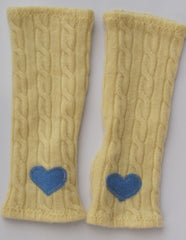 KIDS' YELLOW CABLEKNIT