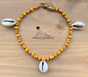 Mamba Anklet: Orange 10""