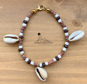 Mamba Anklet: Brown 8""