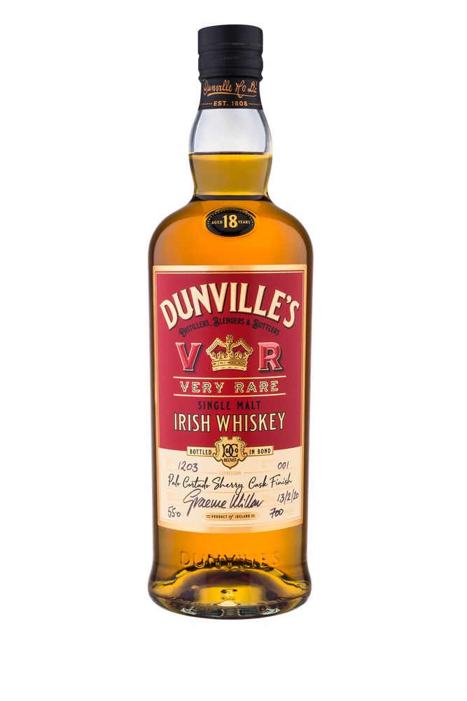 Dunville's 18 Year Old Palo Cortado Sherry Cask Finish Single Malt Irish Whiskey