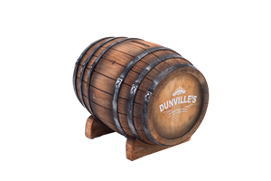 Dunville's Irish Whiskey coin barrel