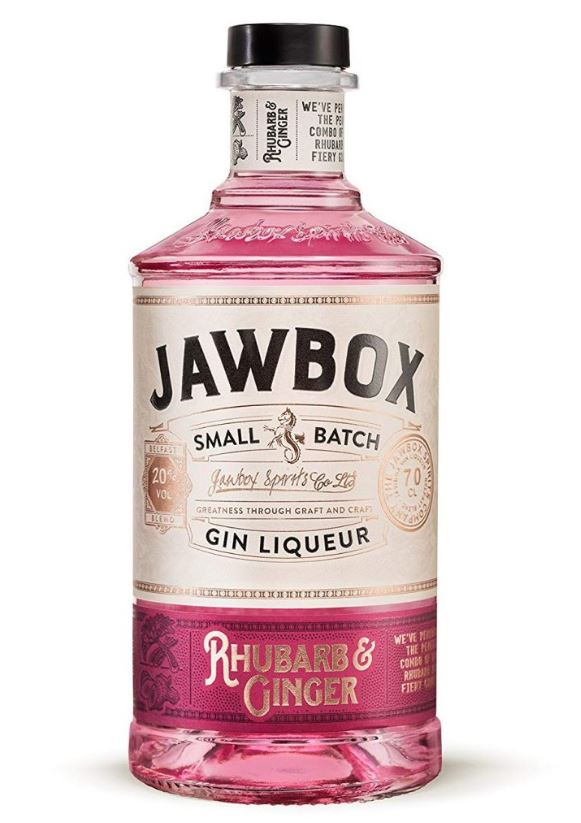 Jawbox Rhubarb and Ginger gin liqueur 70cl 20% ABV