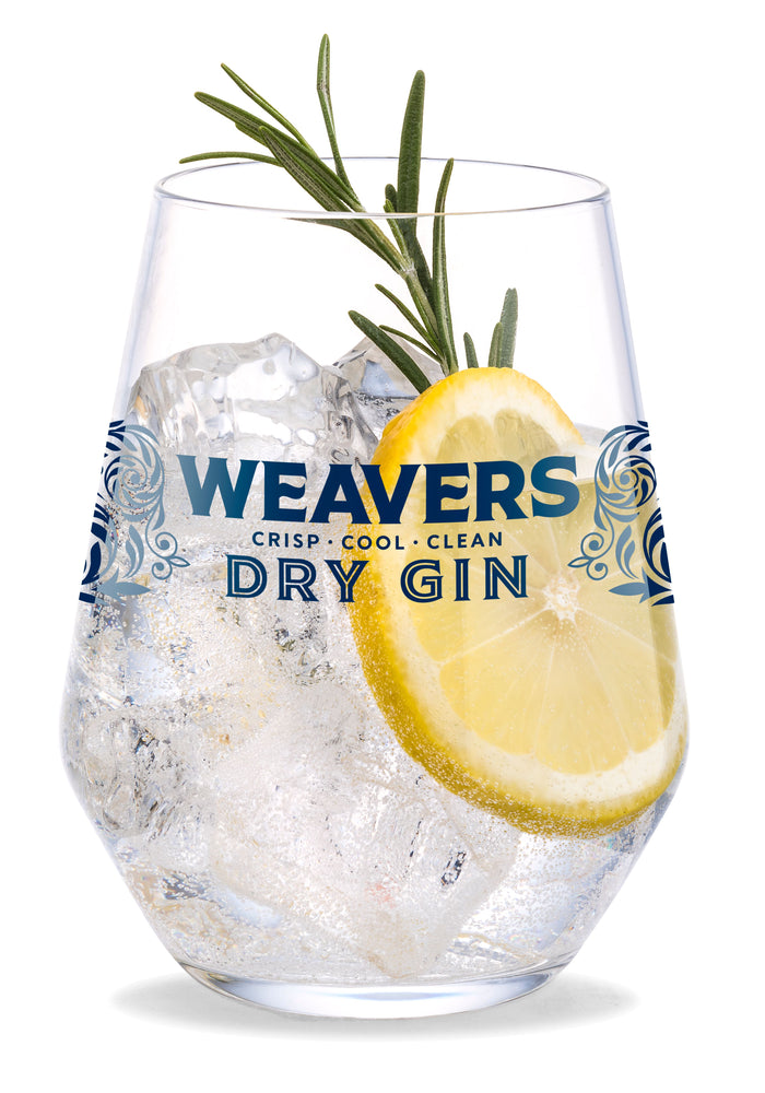 Weavers Irish Gin glass