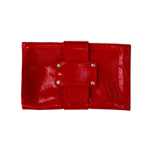 Tracey Tanner | Sofia Clutch Wallet | Patent Cherry