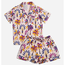 Load image into Gallery viewer, Printfresh Pajamas | Royal Palms Short Sleep Set | Amethyst