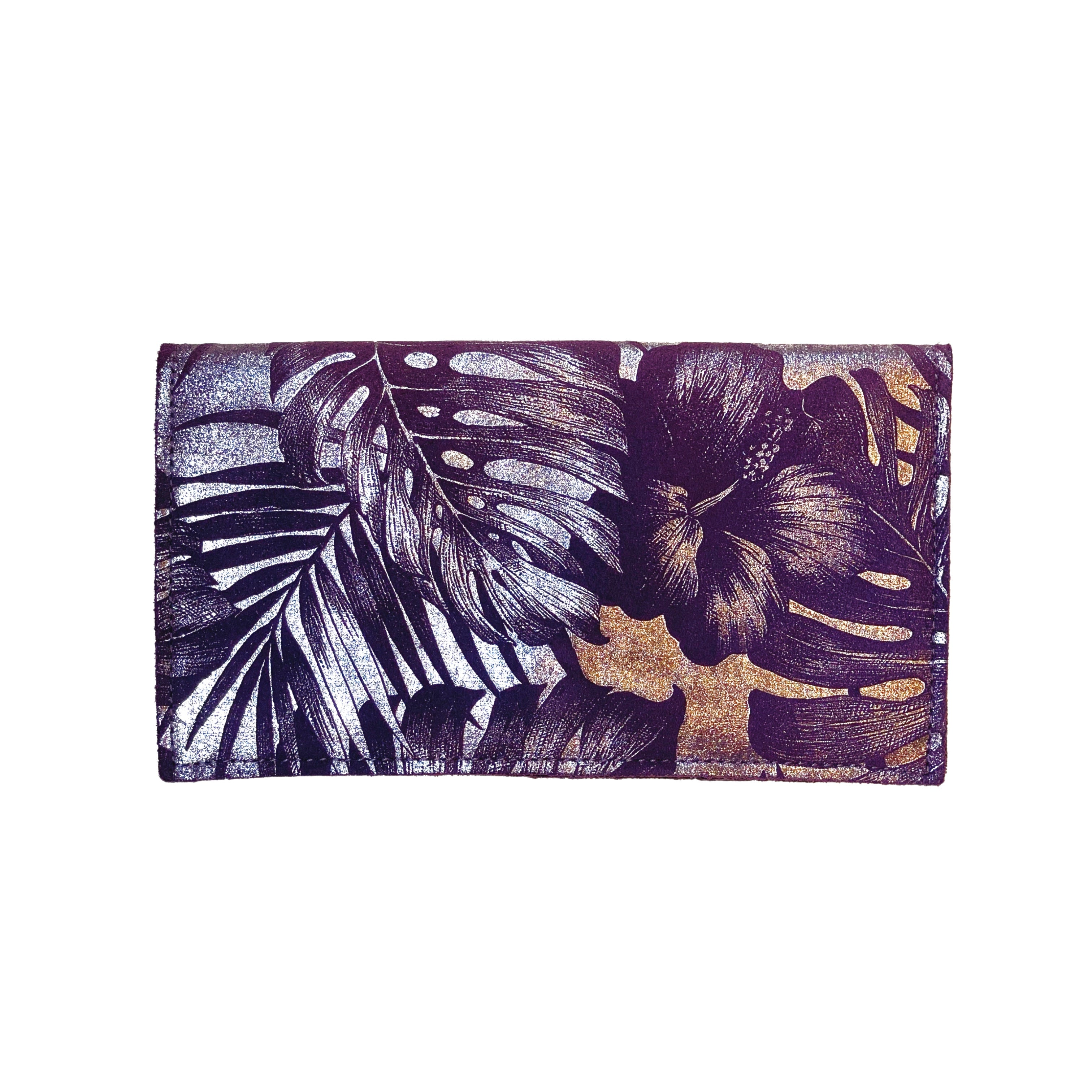 Tracey Tanner | Sarah Foldover Wallet | Purple Palms - FrankShopWP