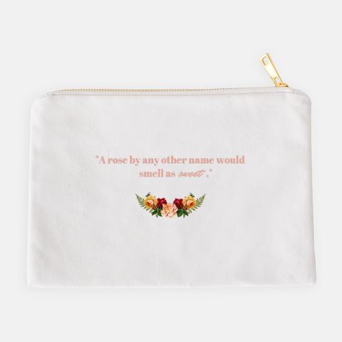 """A rose by any other name"" Cosmetic Bag-FlorabyFauna-FlorabyFauna"