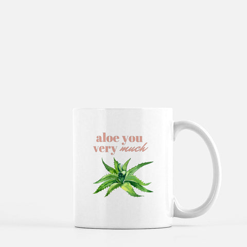 """Aloe you very much"" Ceramic Mug-FlorabyFauna-FlorabyFauna"