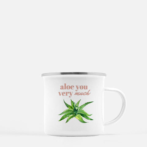 """Aloe you very much"" Camp Mug-FlorabyFauna-FlorabyFauna"