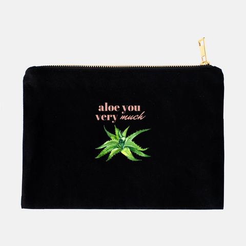 """Aloe you very much"" Cosmetic Bag-FlorabyFauna-FlorabyFauna"