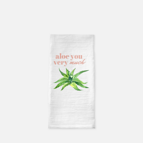 """Aloe you very much"" Tea Towel-FlorabyFauna-FlorabyFauna"
