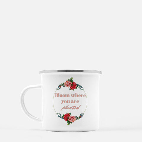 """Bloom where you are planted"" Camp Mug-FlorabyFauna-FlorabyFauna"