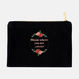 """Bloom where you are planted"" Cosmetic Bag-FlorabyFauna-FlorabyFauna"