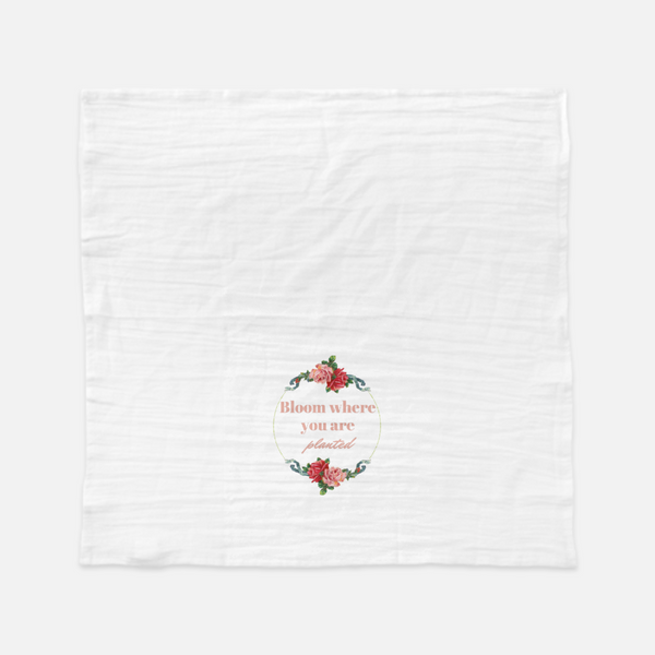 """Bloom where you are planted"" Tea Towel-FlorabyFauna-FlorabyFauna"