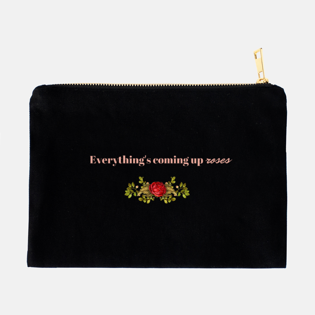 """Everything's coming up roses"" Cosmetic Bag-FlorabyFauna-FlorabyFauna"