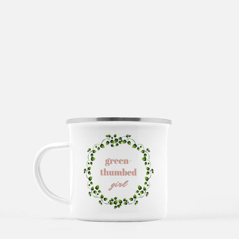 """Green-thumbed girl"" Camp Mug-FlorabyFauna-FlorabyFauna"