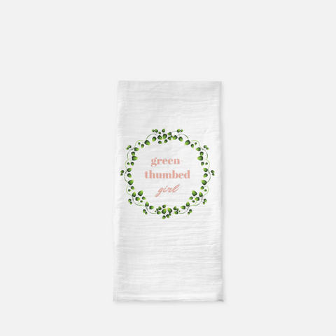 """Green-thumbed girl"" Tea Towel"