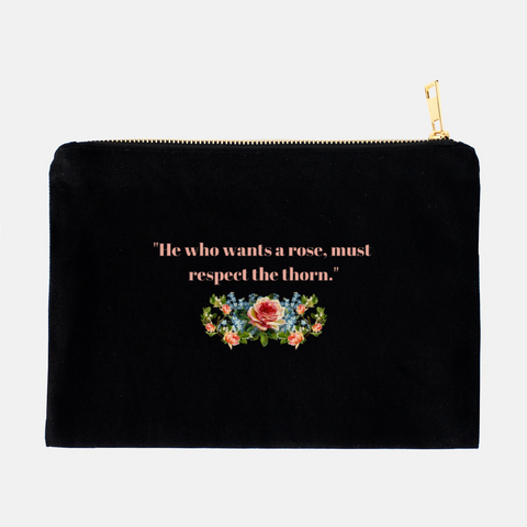 """He who wants a rose"" Cosmetic Bag-FlorabyFauna-FlorabyFauna"