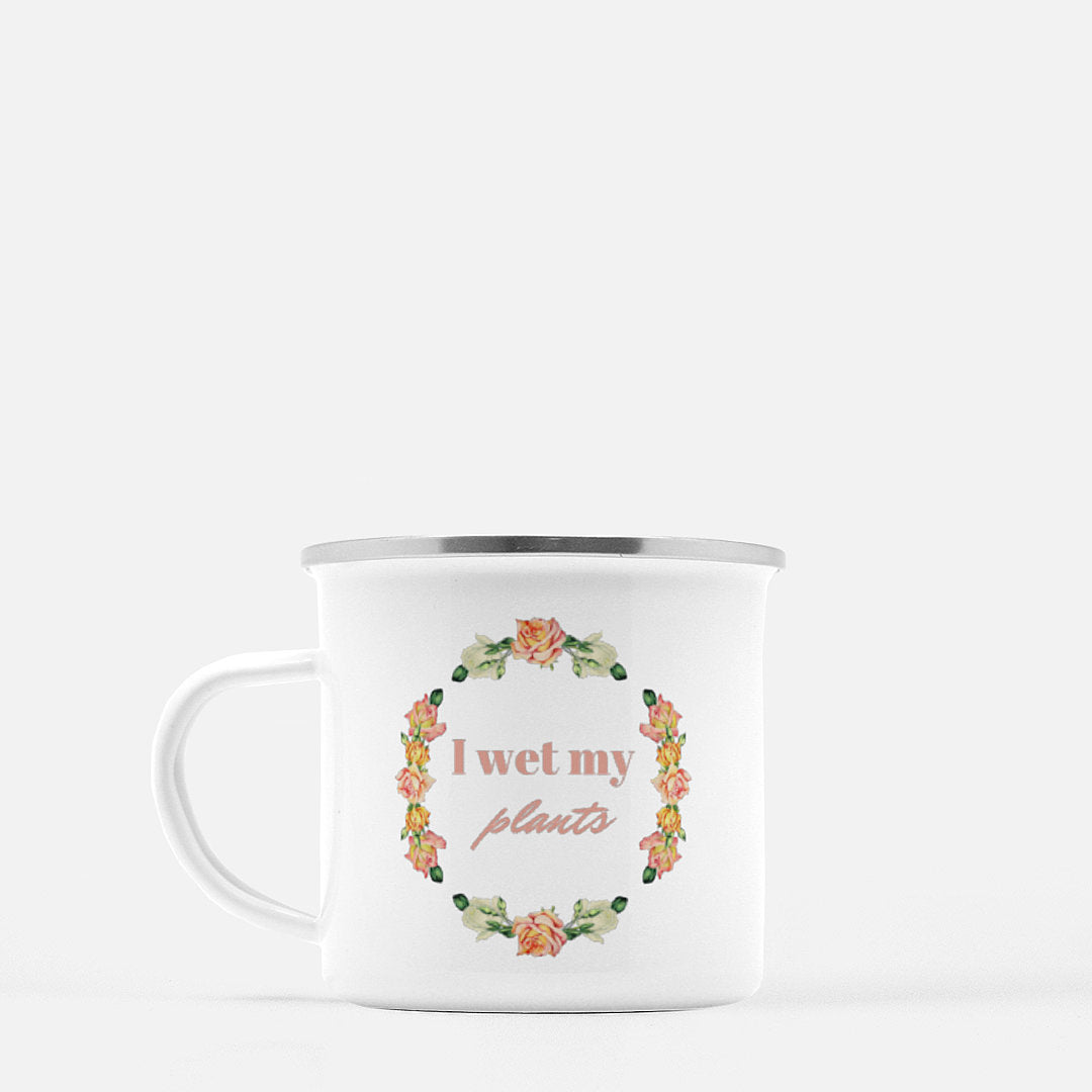"""I wet my plants"" Camp Mug-FlorabyFauna-FlorabyFauna"