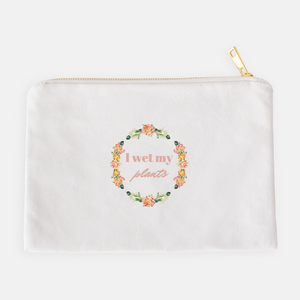 """I wet my plants"" Cosmetic Bag-FlorabyFauna-FlorabyFauna"