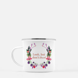 """Look but don't touch"" Camp Mug-FlorabyFauna-FlorabyFauna"