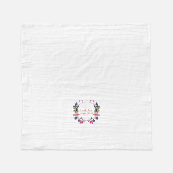 """Look but don't touch"" Tea Towel-FlorabyFauna-FlorabyFauna"