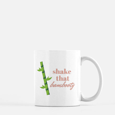 """Shake that bambooty"" Ceramic Mug"