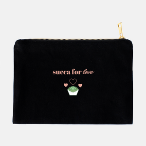 """Succa for love"" Cosmetic Bag-FlorabyFauna-FlorabyFauna"
