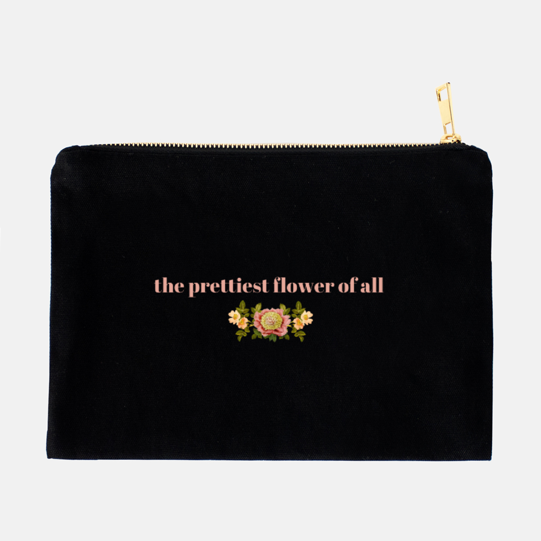 """The prettiest flower of all"" Cosmetic Bag"