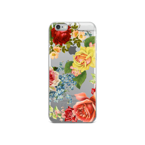 iphone case with multicolor roses
