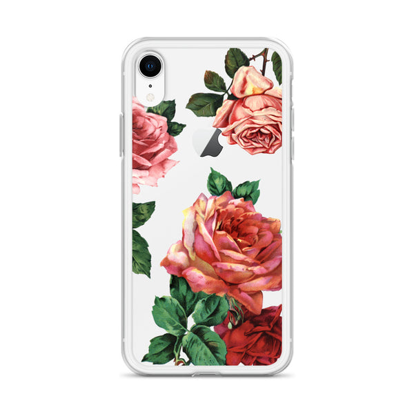 iphone case with large roses