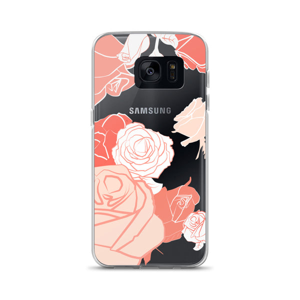 Samsung Case - Creamsicle Rose