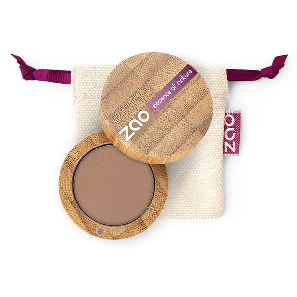 Matt Eyeshadow von Zao in Nude im Bambus Case