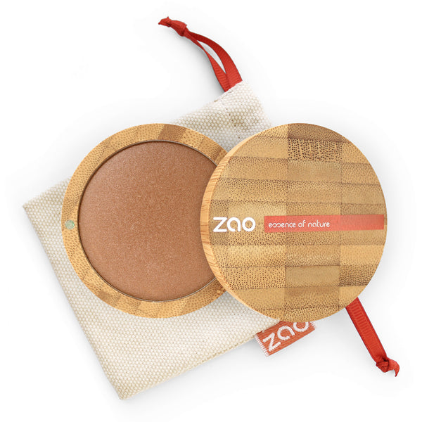Cooked Powder von Zao in Golden Bronze im Bambus Case