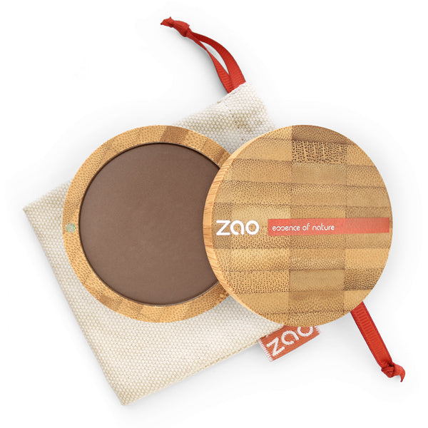 Cooked Powder von Zao in Choccolate im Bambus Case
