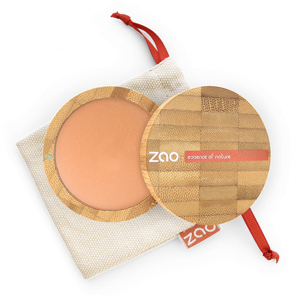 Cooked Powder von Zao in Natural Glow im Bambus Case