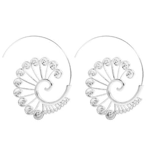 SMJEL New Exaggerated Swirl Indian Earring Simple Snail Spiral Ear Cuff Earrings for Girl Brincos boucle d'oreille femme 2018