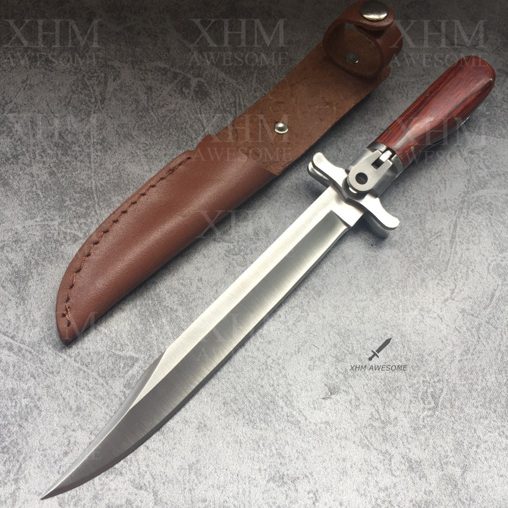 XHM Tactical Folding Dagger Knife Bayonet Combat Fighting Knives Outdoor EDC