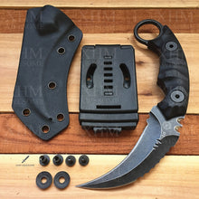 Load image into Gallery viewer, XHM Tactical Karambit Knife Fixed Blade Heavy Duty D2 Blade Outdoor Hunting Skinner Knifes Hawkbill CSGO Claw Knives
