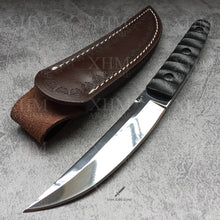Load image into Gallery viewer, XHM 24.5CM Fixed Blade Knife Tactical Tanto Hunting Camping Bayonet Boot Knives