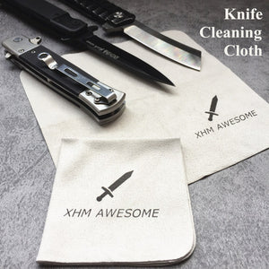 XHM Knife EDC Gear Cleaning Wiping Cloth Microfiber Suede Cloths for Tactical Fixed Blade Folding Knives Dagger Karambit
