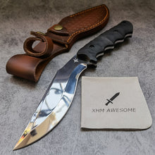 Load image into Gallery viewer, Fixed Blade Knife Kukri Mirror Polished Full Tang 9Cr18Mov Steel Hunting Outdoor