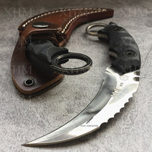 Load image into Gallery viewer, XHM Heavy Duty Tactical Fixed Blade Karambit Knife D2 Blade  Hunting Skinner Hawkbill CSGO Claw Knives