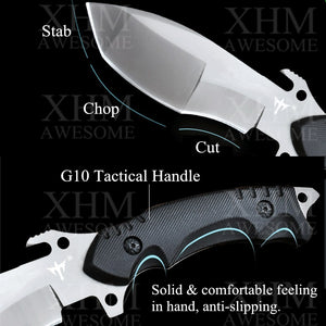 Army Tactical Knife Outdoor Survival Hunting Rescue Ti Fixed Blade Knives Flint