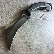 "Load image into Gallery viewer, 9"" Tactical Fixed Blade Karambit with K Sheath Hunting Skinner Hawkbill Knife CSGO Claw Knives"