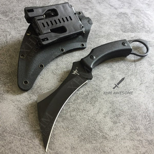 "9"" Tactical Fixed Blade Karambit with K Sheath Hunting Skinner Hawkbill Knife CSGO Claw Knives"