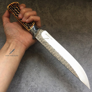 30CM Tactical Dagger Knife Outdoor Survival Army Fixed blade Bowie Knives XHM045