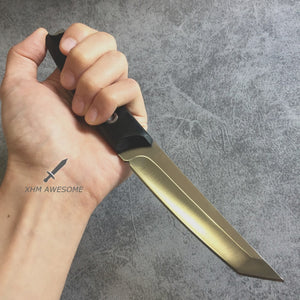 8.8'' Fixed Blade Knife Tactical Tanto 8Cr17Mov Steel Hunting Straight Boot Knives