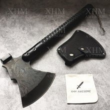 Load image into Gallery viewer, XHM Survival Axe Outdoor Camping Hatchet Tool Chopping Tomahawk Multi-function Hammer Firewood Tactical Equipment