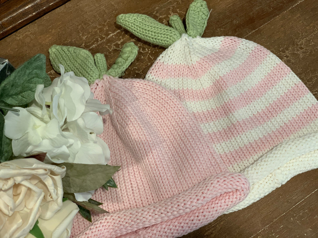 Pink Pea Knit Hat
